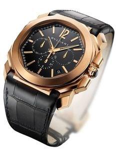Ремонт часов Bvlgari Octo Chronograph RG Black Strap Gefica Gerald Genta в мастерской на Неглинной