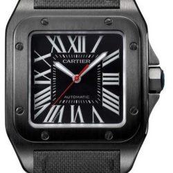 Ремонт часов Cartier 100 Carbon Santos De Cartier Stainless Steel в мастерской на Неглинной