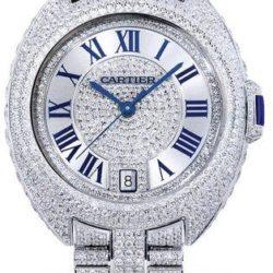Ремонт часов Cartier Cle De Cartier 35 mm White Gold Diamond Set Tortue Cushion в мастерской на Неглинной