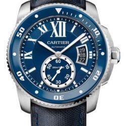 Ремонт часов Cartier Diver Blue Calibre de Cartier Stainless Steel в мастерской на Неглинной
