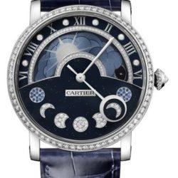 Ремонт часов Cartier HPI01009 Rotonde De Cartier Day / Night Retrograde Moon Phases Diamonds в мастерской на Неглинной