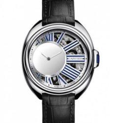 Ремонт часов Cartier Mysterious Hour Palladium Tortue Clé de Cartier в мастерской на Неглинной