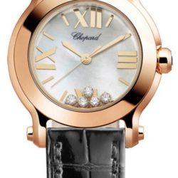 Ремонт часов Chopard 274189-5001 Happy Sport Round 30mm 5 Diamonds Edition в мастерской на Неглинной