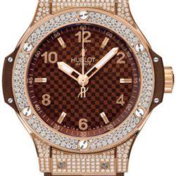 Ремонт часов Hublot 361.PC.3380.RC.1704 Big Bang 38mm Ladies Red Gold Cappuccino Diamonds в мастерской на Неглинной