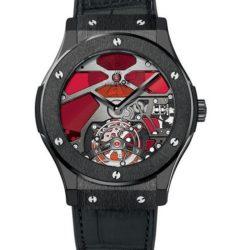 Ремонт часов Hublot 502.CX.0001.LR Classic Fusion Tourbillon Ceramic Red Vitrail в мастерской на Неглинной