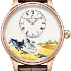 Ремонт часов Jaquet Droz J005013204 Les Ateliers D'Art Petite Heure Minute Horses в мастерской на Неглинной