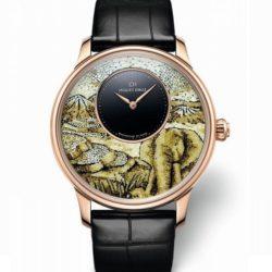 Ремонт часов Jaquet Droz J005033280 Elegance Paris Petite Heure Minute Mosaic Elephant в мастерской на Неглинной