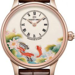 Ремонт часов Jaquet Droz j005013203 CARPS Les Ateliers D'Art Petite Heure Minute Enamel Painting 39 mm в мастерской на Неглинной