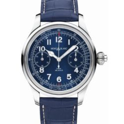 Ремонт часов Montblanc 114086 Villeret 1858 Chronograph Tachymeter Blue Limited Edition в мастерской на Неглинной