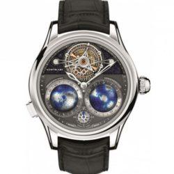 Ремонт часов Montblanc 115053 Villeret 1858 Tourbillon Cylindrique NightSky Geosphères в мастерской на Неглинной