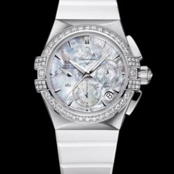 Ремонт часов Omega 121.17.35.50.05.001 Constellation Ladies Double eagle co-axial chronograph в мастерской на Неглинной