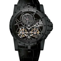 Ремонт часов Roger Dubuis Double Flying Tourbillon Skeleton In Black Titanium Excalibur 45 mm в мастерской на Неглинной
