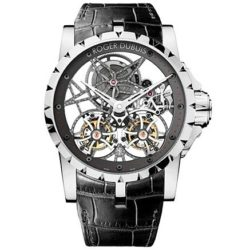 Ремонт часов Roger Dubuis EX45-01SQ-20-00/0E000/B Excalibur Skeleton Double Flying Tourbillon в мастерской на Неглинной