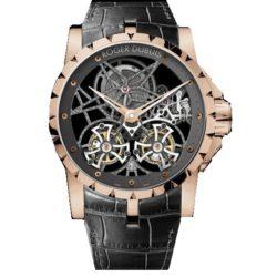 Ремонт часов Roger Dubuis EX45-01SQ-50-00/0E000/B Excalibur Skeleton Double Flying Tourbillon в мастерской на Неглинной