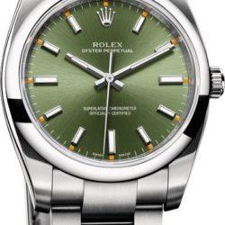 Ремонт часов Rolex 114200 green Oyster Perpetual 34 mm Steel в мастерской на Неглинной