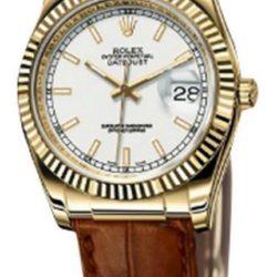 Ремонт часов Rolex 116138 white Datejust Yellow Gold в мастерской на Неглинной