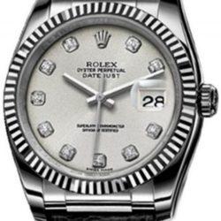 Ремонт часов Rolex 116139 silver diamonds Datejust White Gold в мастерской на Неглинной