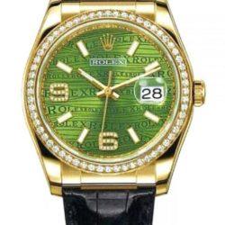 Ремонт часов Rolex 116188 Green Datejust 36mm Yellow Gold в мастерской на Неглинной