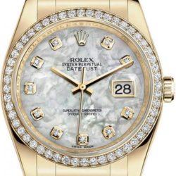 Ремонт часов Rolex 116188 mother of pearl Datejust Ladies Yellow Gold - Diamond Bezel в мастерской на Неглинной