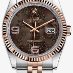 Ремонт часов Rolex 116231 brown floral diamonds dial Jubilee Datejust Ladies 36mm в мастерской на Неглинной