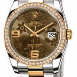 Ремонт часов Rolex 116243 Bronze Floral Datejust Ladies 36mm Steel and Yellow Gold в мастерской на Неглинной