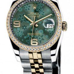 Ремонт часов Rolex 116243 Green Floral dial Jublilee Datejust Ladies Datejust 36mm - Steel and Yellow в мастерской на Неглинной