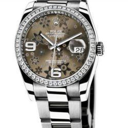 Ремонт часов Rolex 116244 bronz floral dial Oyster Datejust Ladies 36mm - WG Steel Diamond Bezel в мастерской на Неглинной