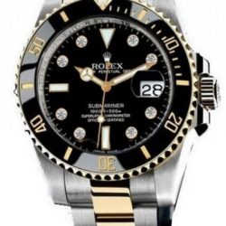 Ремонт часов Rolex 116613 black dial 8 diamond Submariner Rolex Submariner Date Steel and Yellow Gold Ceramic 116613 black dial 8 diamond в мастерской на Неглинной