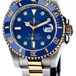 Ремонт часов Rolex 116613 blue dial 8 diamond Submariner Date Steel and Yellow Gold в мастерской на Неглинной