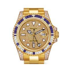 Ремонт часов Rolex 116758SA pave GMT-Master II 40mm Yellow Gold в мастерской на Неглинной