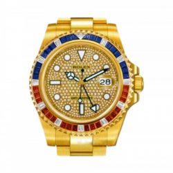 Ремонт часов Rolex 116758SARU Pave GMT-Master II 40mm Yellow Gold Jewellery в мастерской на Неглинной