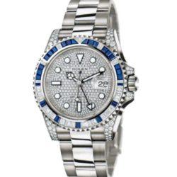 Ремонт часов Rolex 116759SA Pave GMT-Master II 40mm White Gold Jewellery в мастерской на Неглинной