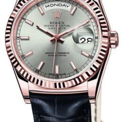 Ремонт часов Rolex 118135 Silver Day-Date Everose Gold в мастерской на Неглинной
