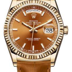 Ремонт часов Rolex 118138 brown Day-Date Yellow Gold в мастерской на Неглинной