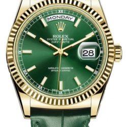 Ремонт часов Rolex 118138-green Day-Date Yellow Gold в мастерской на Неглинной
