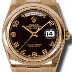 Ремонт часов Rolex 118205 black Day-Date Everose Gold в мастерской на Неглинной