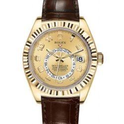Ремонт часов Rolex 326138 Champagne Arabic Sky-Dweller 42 mm Yellow Gold в мастерской на Неглинной