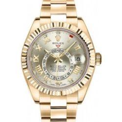 Ремонт часов Rolex 326938 Silver Roman Sky-Dweller 42 mm Yellow Gold в мастерской на Неглинной