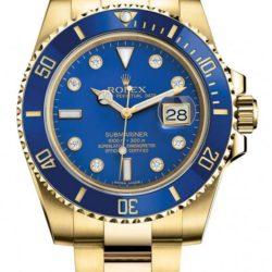 Ремонт часов Rolex M116618LB-0002 Submariner Date Yellow Gold в мастерской на Неглинной