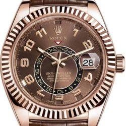Ремонт часов Rolex M326135-0001 Sky-Dweller Everose Gold в мастерской на Неглинной