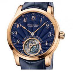 Ремонт часов Ulysse Nardin 1786-133/E3 Specialities Anchor Tourbillon Blue Enamel 2015 в мастерской на Неглинной