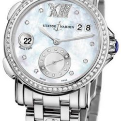 Ремонт часов Ulysse Nardin 243-22B-7/391 Dual Time Ladies GMT Big Date 37mm в мастерской на Неглинной