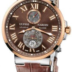 Ремонт часов Ulysse Nardin 265-67/45 Maxi Marine Chronometer 43mm Rose Gold Steel в мастерской на Неглинной