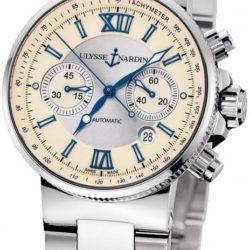 Ремонт часов Ulysse Nardin 353-66-7/314 Maxi Marine Chronograph Steel Bracelet в мастерской на Неглинной