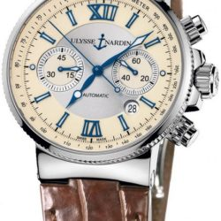 Ремонт часов Ulysse Nardin 353-66/314 Maxi Marine Chronograph Steel в мастерской на Неглинной
