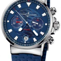 Ремонт часов Ulysse Nardin 353-68LE-3 Maxi Marine Chronograph Blue Seal в мастерской на Неглинной