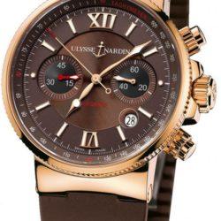 Ремонт часов Ulysse Nardin 356-66-3/355 Maxi Marine Chronograph RG в мастерской на Неглинной