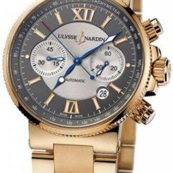 Ремонт часов Ulysse Nardin 356-66-8/319 Maxi Marine Chronograph RG Bracelet в мастерской на Неглинной