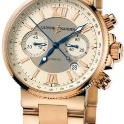 Ремонт часов Ulysse Nardin 356-66-8/354 Maxi Marine Chronograph RG Bracelet в мастерской на Неглинной