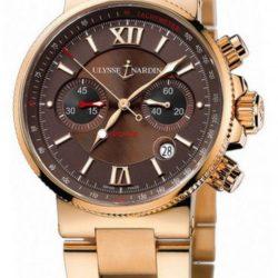Ремонт часов Ulysse Nardin 356-66-8/355 Maxi Marine Chronograph RG Bracelet в мастерской на Неглинной
